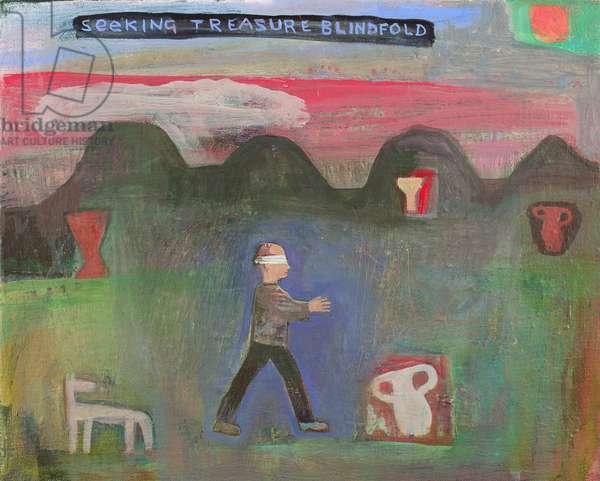Seeking Treasure Blindfold, 1999 (oil on canvas)