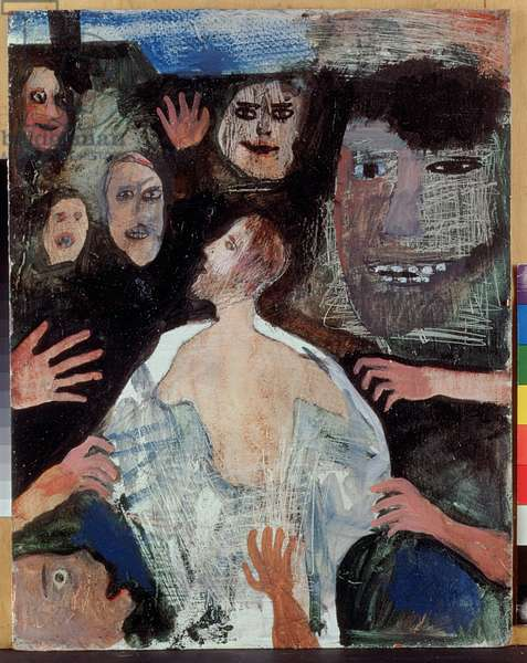 Jesus is Stripped of His Garments ii, 1987 (oil on board)