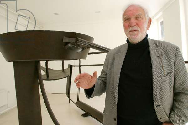 Anthony Caro with one
