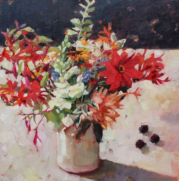 Late Summer Flowers, 2017, (oil on linen)