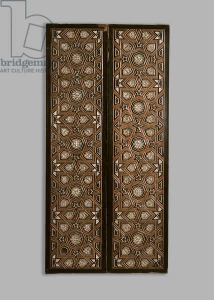 Two panels inlaid with ivory and ebony, 14th century (mixed media)