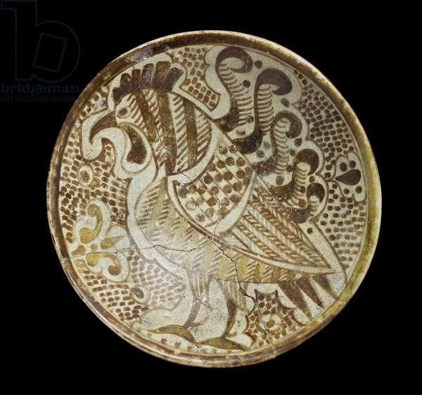 Saucer, 9th century (polychrome lustre)