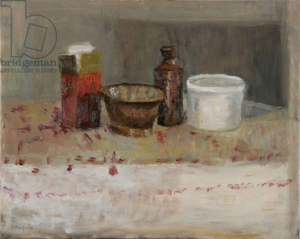 Jelly Dish and Tea Packet, 2005 (oil on canvas)