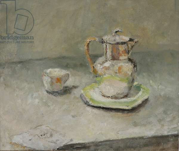Silver Coffee Pot and Letter, 2005 (oil on canvas)