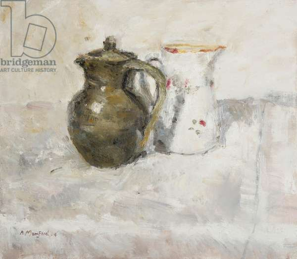 The Coffee Pot and White Jug, 2004 (oil on canvas)