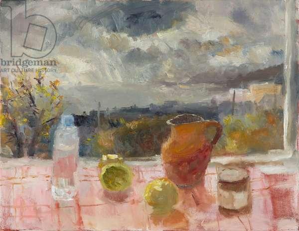 Penzance Window, Showery Weather, 2014 (oil on canvas)
