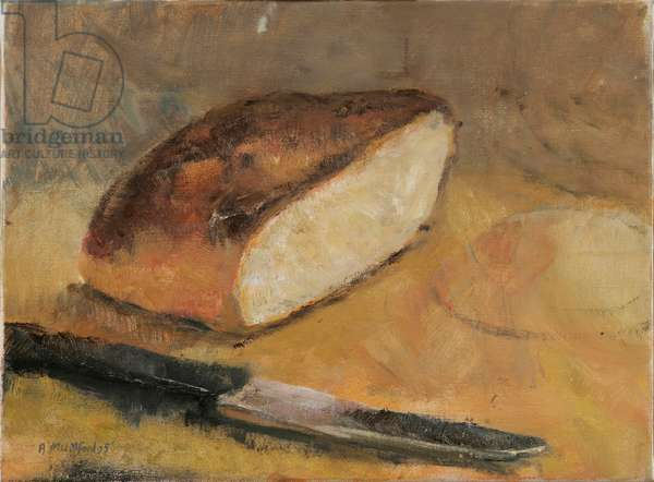 Bread and Knife, 2005 (oil on canvas)