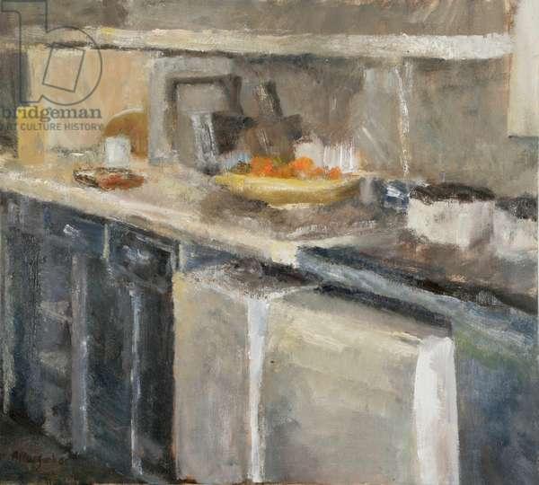 Polgrean Kitchen, 2004 (oil on board)