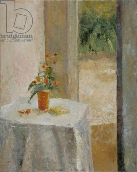 Buddleia Beside the Open Door, 2005 (oil on canvas)