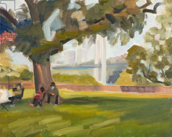 Gingko Tree Picnic, 2014 (oil on canvas)