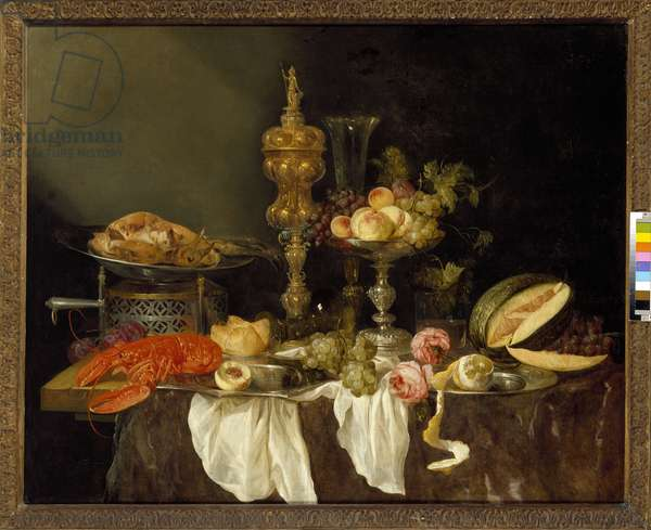 Still Life with a Lobster and a Turkey (oil on canvas)