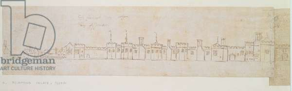 Outer Wall of Richmond Palace, 16th century (pen and ink on paper)
