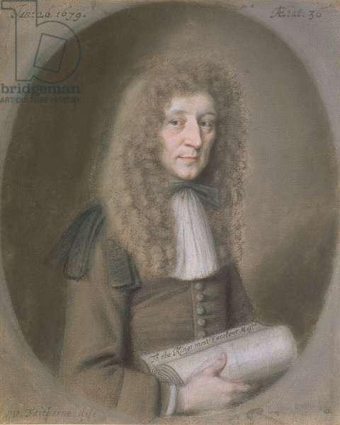 Portrait of a Man, probably Thomas Dare, 1679 (pastel & black chalk on paper)