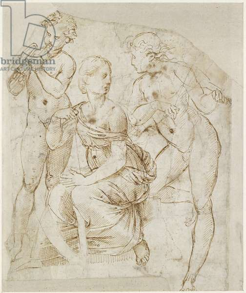 Recto: Group of Musicians , WA1846.166 (pen & brown ink on white paper)