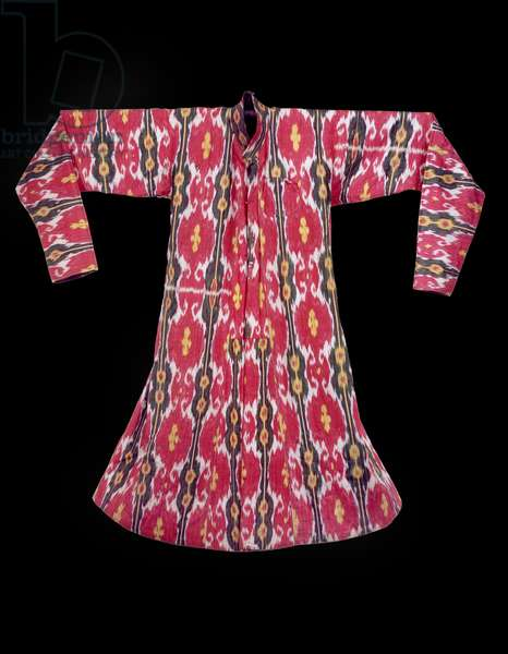 Reversible coat for a woman, from Western Sinkiang, Yarkand or Kashgar, before 1869 (silk & cotton)