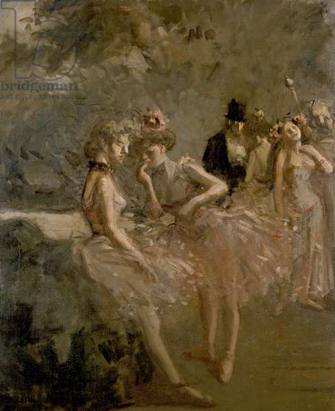 Scene in the Wings of a Theatre, c. 1870 - 1900 (oil on canvas)