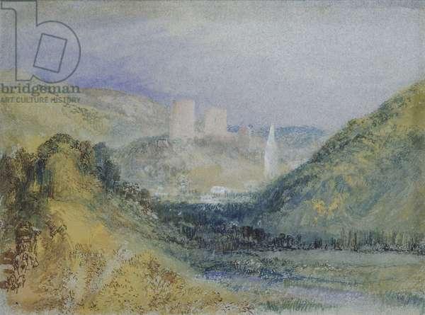 Lillebonne, c.1823 (w/c & gouache with pen & ink on paper)