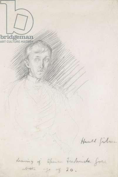 Portrait of Frederick Spencer Gore (1878 - 1914) (graphite on paper)
