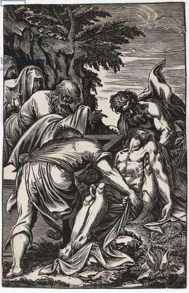The Entombment, 1592-1607 (woodcut)