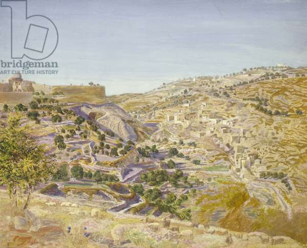 View of Jerusalem, 1854 (watercolour on paper)