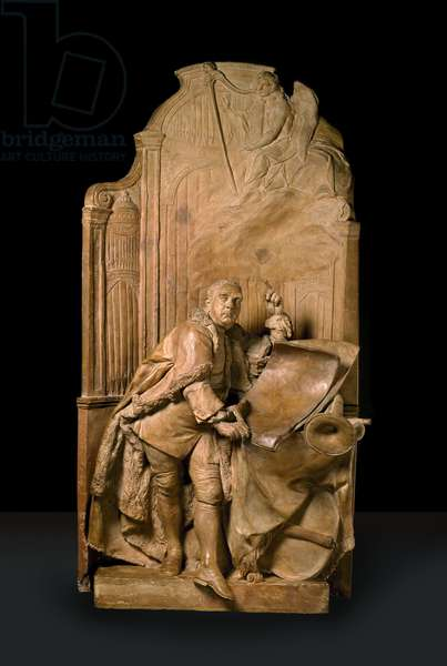 Modello for the monument to George Frideric Handel in Westminster Abbey (terracotta and plaster of Paris)