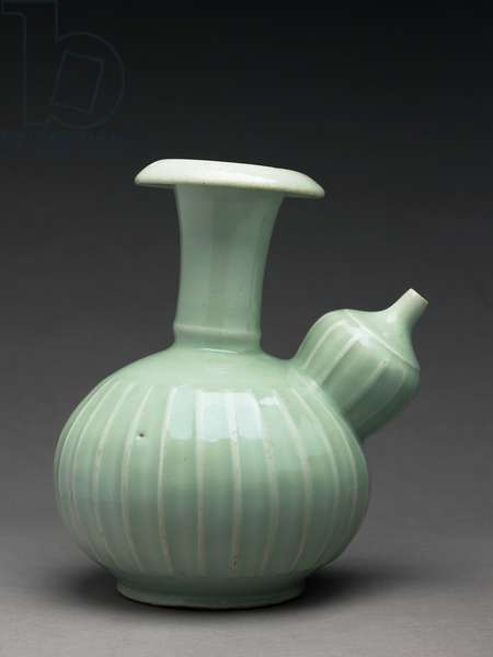 Kendi with moulded decoration, Arita kiln-sites (porcelain)
