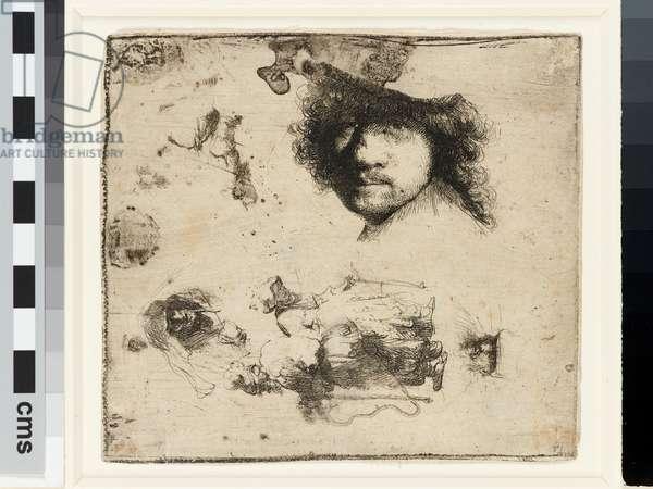 Sheet of studies, 1632 (etching)