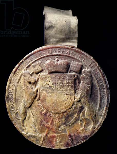 James I's Great Seal, 17th century (wax)