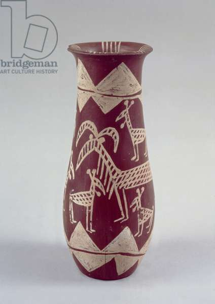 Goblet, Naqada period c.4000-3100 BC, (painted pottery)