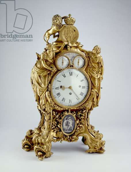 Clock, 1775 - 1800 (bronze, fire-gilt, ormolu)
