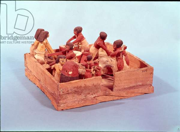 Kitchen scene with eight figures, Beni Hasan (wood)