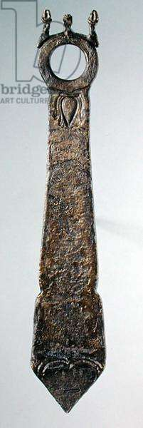 Patera handle, from Grave IV at Nymphaeum in the Crimea (bronze)