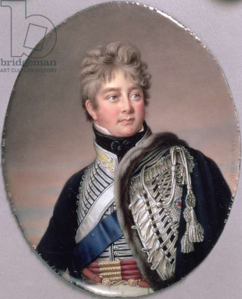 Portrait Miniature of George IV (1762-1830) 1805 (w/c on enamel on copper)