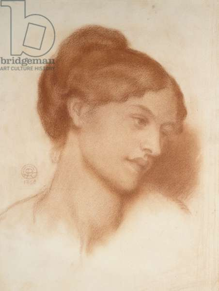 Portrait of Mrs Murray Marks, 1868 (red chalk on off-white paper)