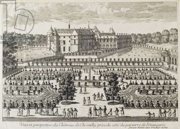 View of the Chateau de Chantilly from the Orangerie (engraving)