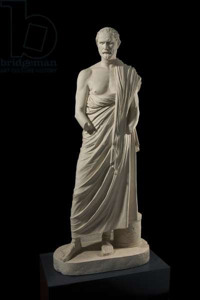Cast of a portrait statue of Demosthenes from Italy, dated 1st-2nd century AD, after an original by Polyeuktos, 3rd century BC (plaster)