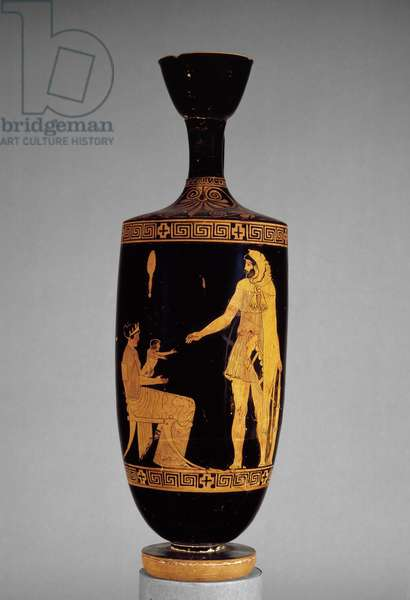 Attic red-figure lekythos depicting Herakles (pottery)