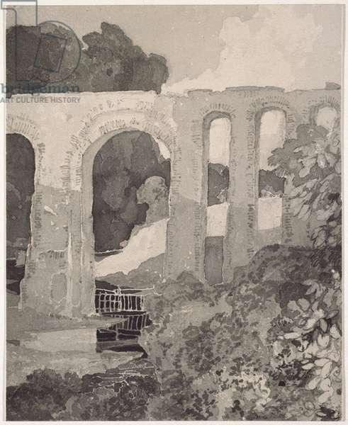 Telford's Aqueduct (graphite and grey wash)