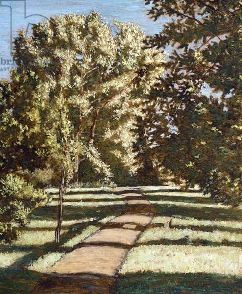Black Poplar, 1992 (oil on board)