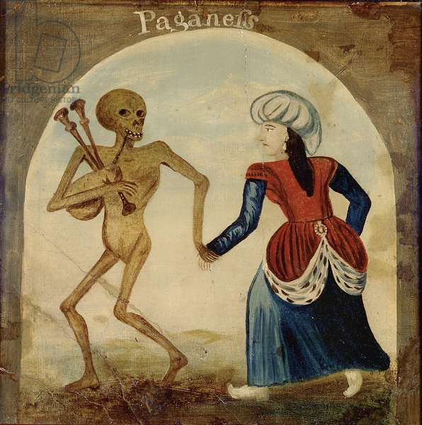 Death Leading a Pagan Woman (oil on panel)