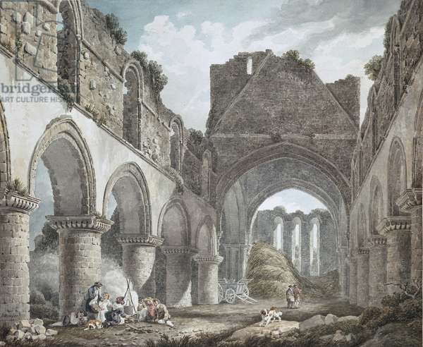Buildwas Abbey, Shropshire, 18th century (w/c on paper)