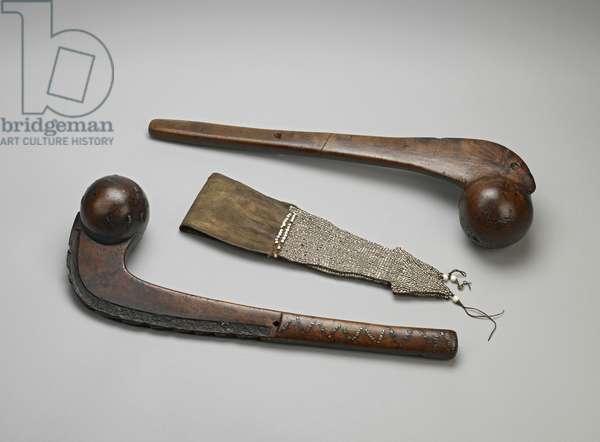 Ball-Headed Tomahawk Clubs (wood & brass)