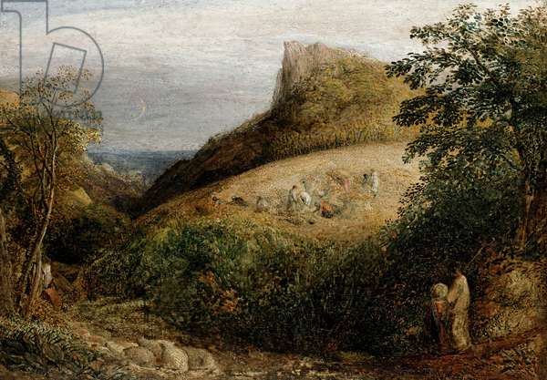 A Pastoral Scene, 19th century (oil on panel)