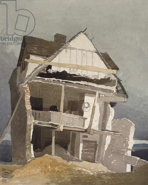 A Ruined House, 19th century (w/c on paper)