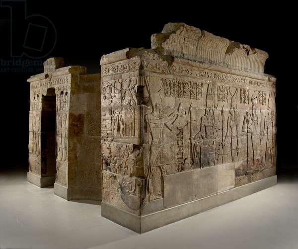 Shrine of Taharqa, c.690-664 BC (sandstone)