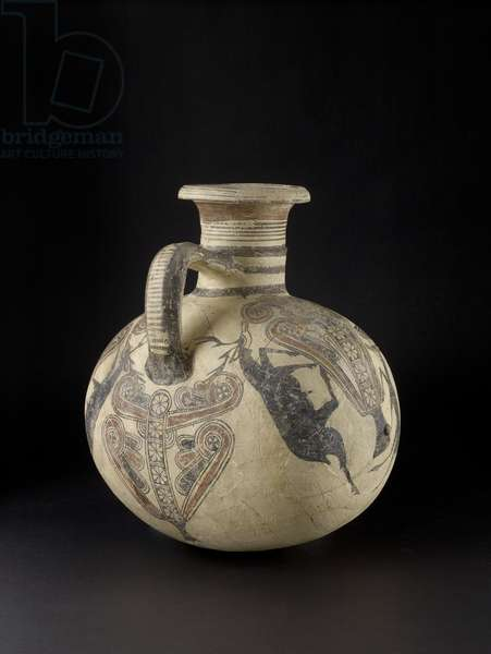 Cypriot Barrel jug depicting birds and deer, 7th-6th century (ceramic)