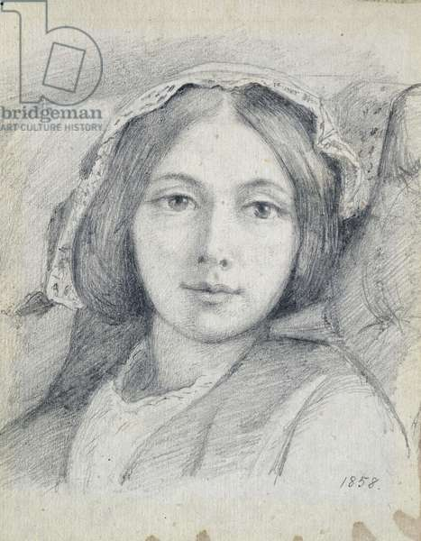 Mary Ellen Meredith, 1858 (pencil on laid paper)