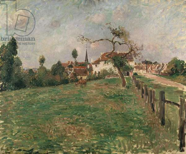The Village of Eragny, 19th century (oil on canvas)