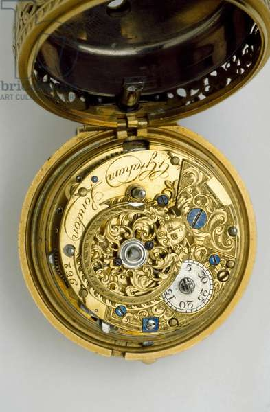 Gold pair-cased cylinder watch with quarter repeat, 1744 (gold) (see also 1217830-1)