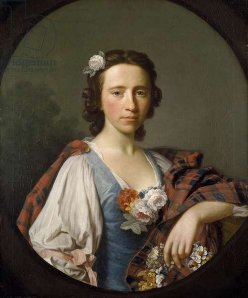 Portrait of Flora MacDonald (oil on canvas)